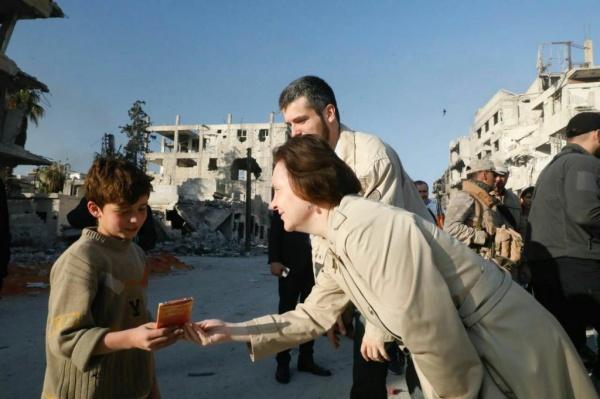 Наталья Комарова в Сирии|Фото:пресс-центр правительства Югры