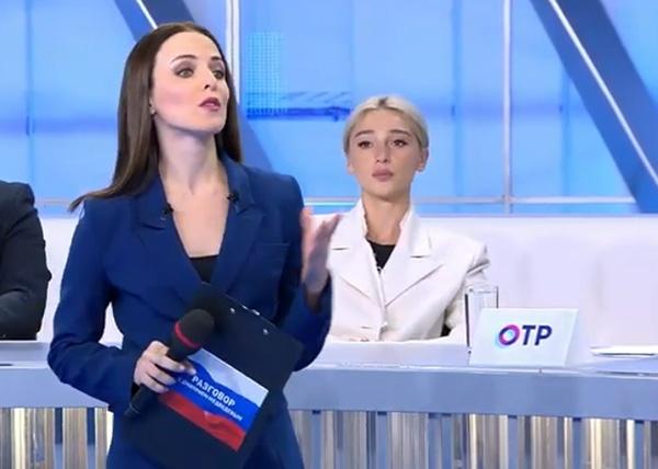 Настя Ивлеева на Разговоре с Дмитрием Медведевым|Фото: Первый канал