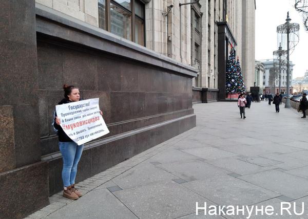 Пикет у здания Государственной думы|Фото: Накануне.RU
