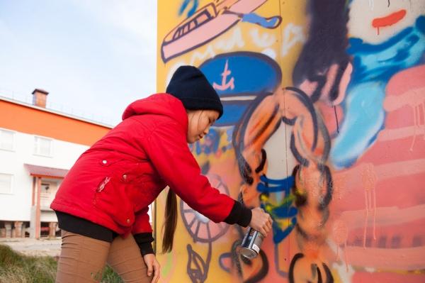 газпром нефть новый порт, граффити, стенограффия|Фото: газпром нефть